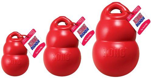 Hunter 61580 Hundespielzeug von Kong, Bounzer Medium, 15 x 10 x 10 cm, rot